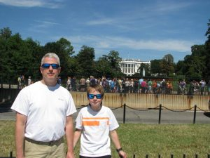 Me (Fred Black) and my son Walker (4th of 4) in DC in September 2015