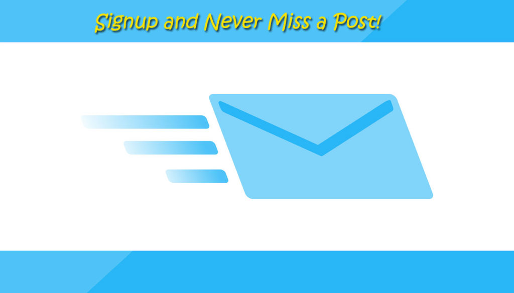 signup and never miss a post
