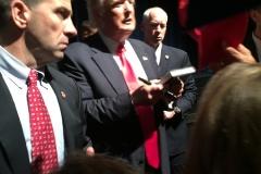 Trump signing...
