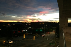View from parking deck after storm